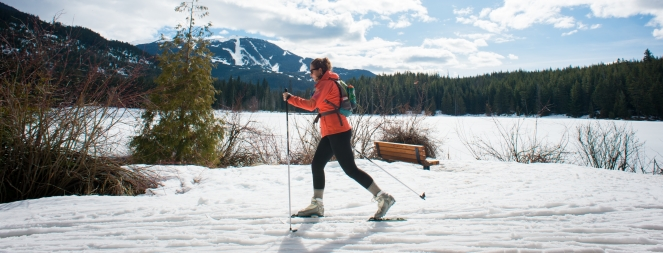 Cross-country skiing at Lost Lake Park photo by Mike Crane, Tourism Whistler