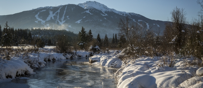Frozen Whistler stream photo by Justa Jeskova/TW