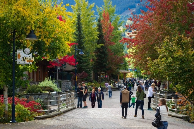 Whistler Village fall  photo credit: Mike Crane