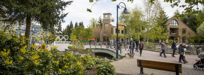 Spring in Whistler Village - image by Justa Jeskova