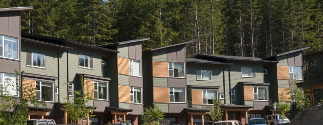 Cheakamus Crossing Whistler Housing Authority homes