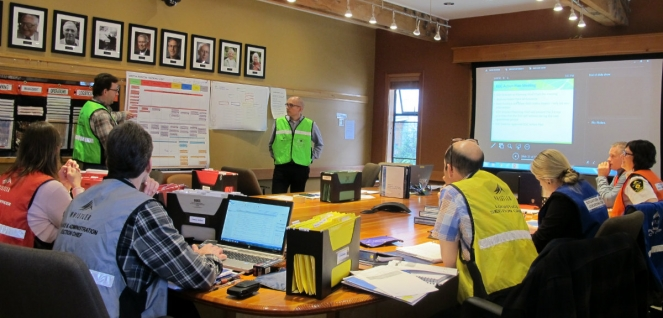 RMOW Emergency Operations Centre exercise
