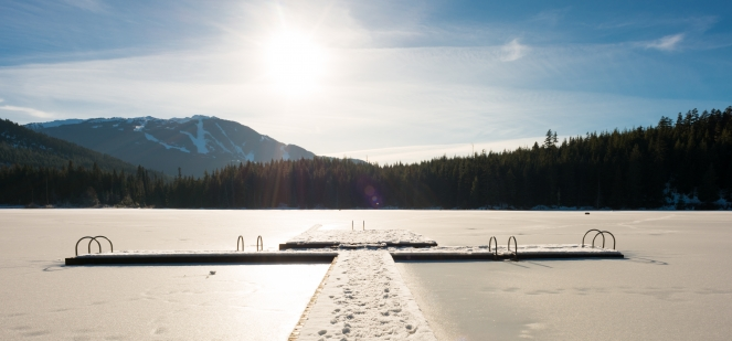 Lost Lake in winter image by Mike Crane