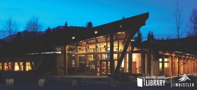 Whistler Public Library at night
