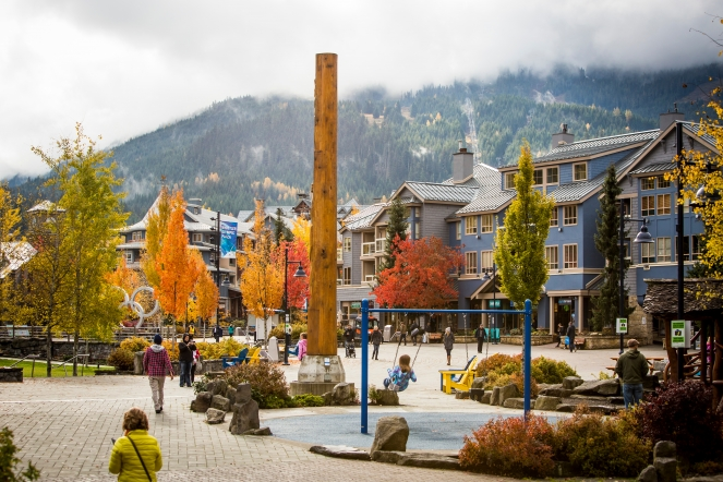 Fall Whistler Village - photo credit: Justa Jeskova
