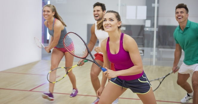 Squash players photo by iStock