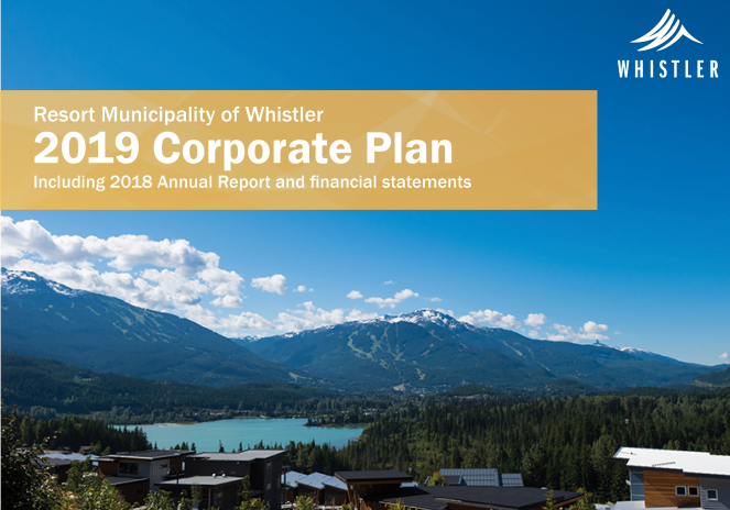 Resort Municipality of Whistler 2019 Corporate Plan cover image