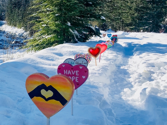 Display from Whistler Has Heart