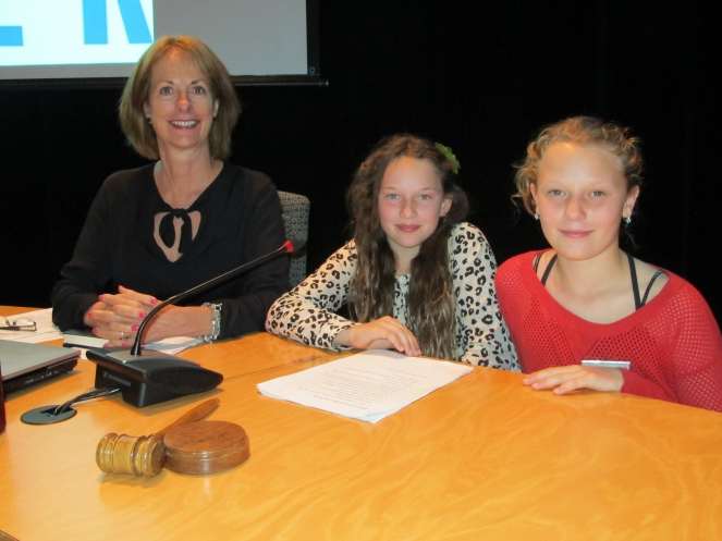 Mayor for the Day Abbey Mellor with Mayor Nancy Wilhelm-Morden