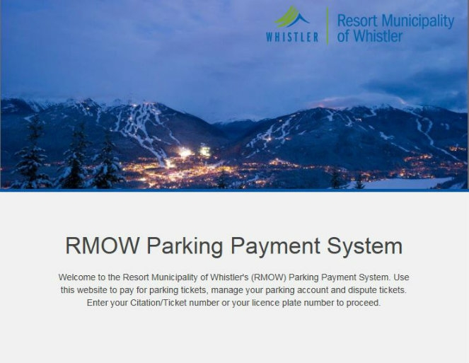 RMOW launches new online parking payment system   Resort
