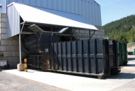 Bins at Whistler Waste Transfer Station
