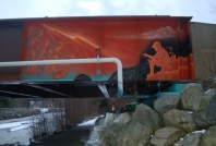 Nancy Greene Bridge Mural