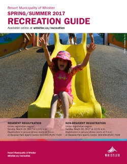Spring and Summer 2017 Recreation Guide