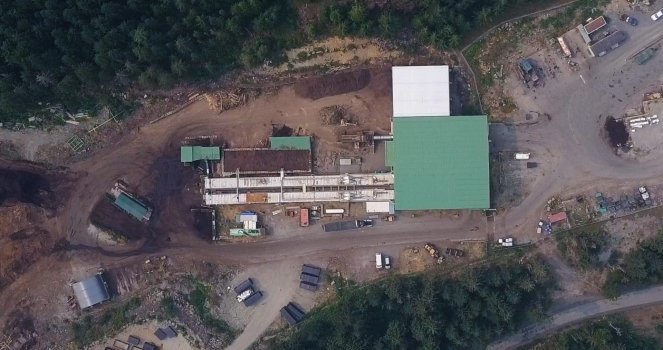 Aerial view of the Whistler Composting Facility, Callaghan Valley. Photo: SLRD