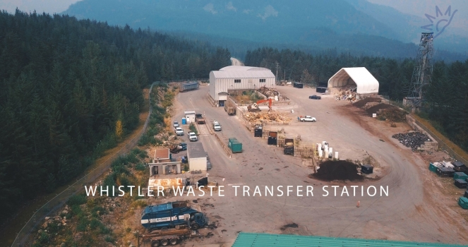 Whistler Transfer Station, Callaghan Valley. Photo: SLRD