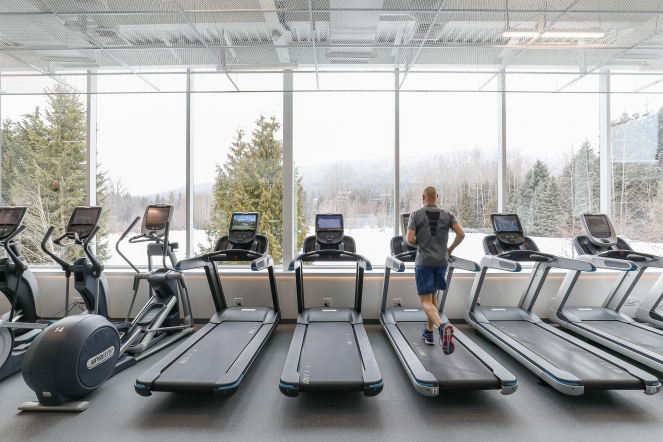 Expanded fitness centre cardio area image by Coast Mountain Photography