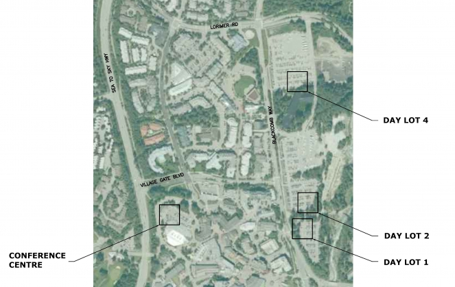 Map showing where the upgrades will be taking place