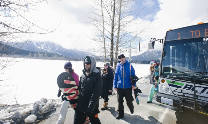Bus in Whistler image