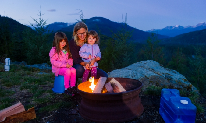 Camp fire photo by Mike Crane