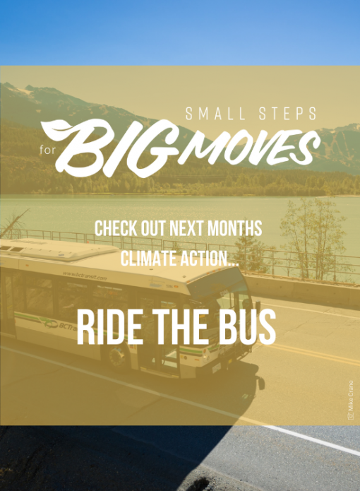 Check out next month's climate action: Ride the bus