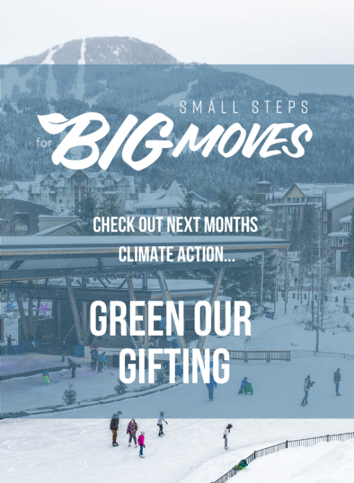 Check out next month's climate action: Green our gifting