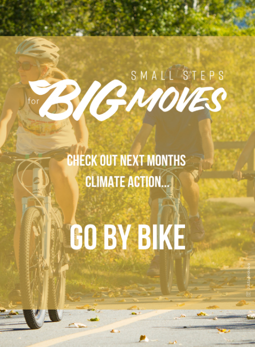 Check out next month's climate action: Go by bike