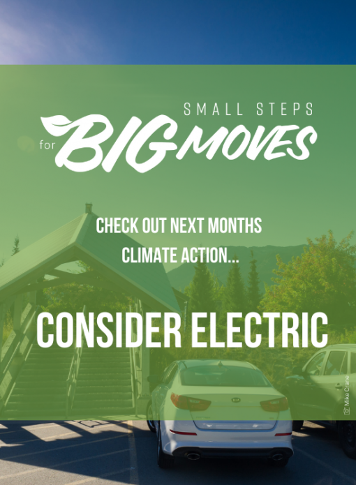 Check out next month's climate action: Consider electric
