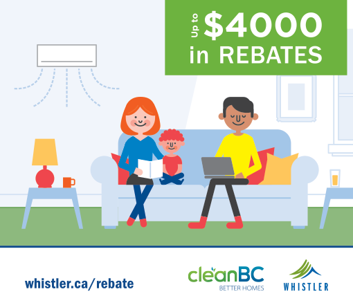 Up to $4000 in rebates from EfficiencyBC and the RMOW