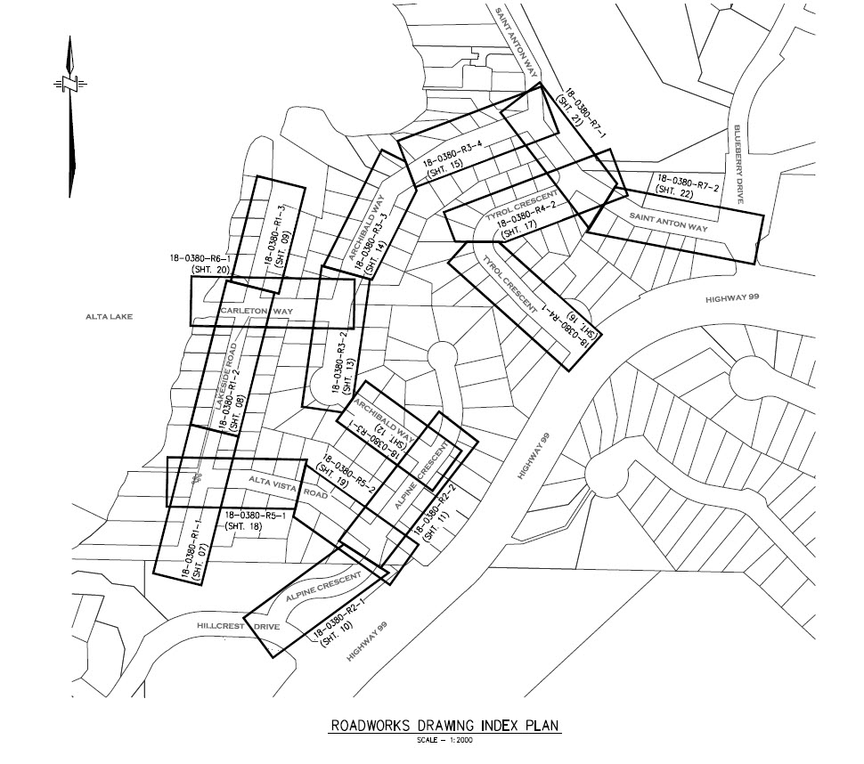 Location of planned road and valley trail upgrades