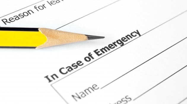 File photo emergency checklist card