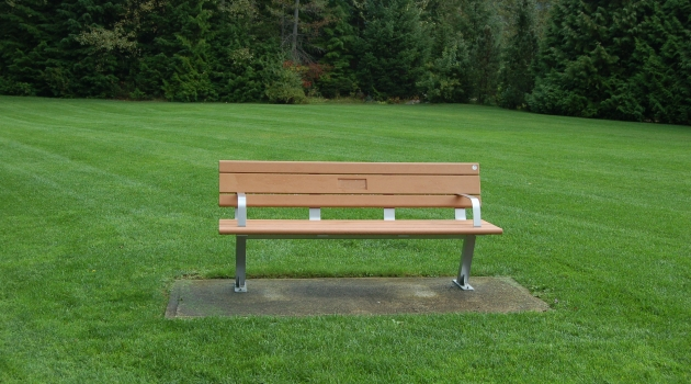 Tribute plaque bench in Whistler
