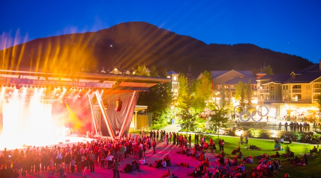 Whistler Presents Outdoor Concert Series. Photo by Mike Crane