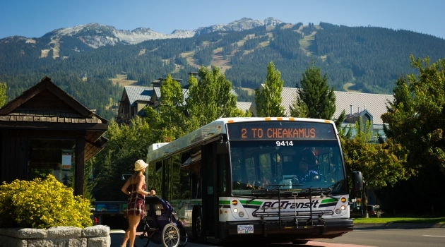 Photo of bus in Whistler Village