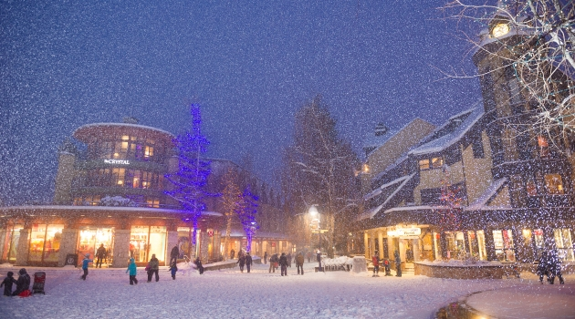Whistler Village in the winter image by Mike Crane