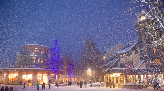 Winter in Whistler Village image by Mike Crane
