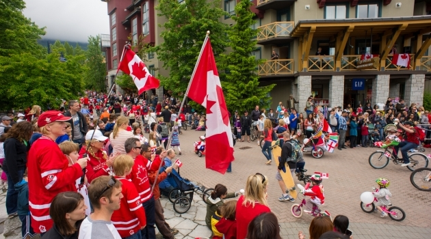 Canada Day in Whistler Village