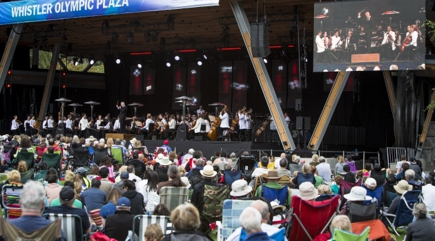 Photo Vancouver Symphony Orchestra performs at Olympic Plaza