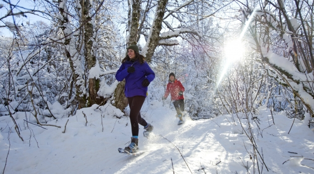 Snowshoeing in Lost Lake photo by David McColm/TW