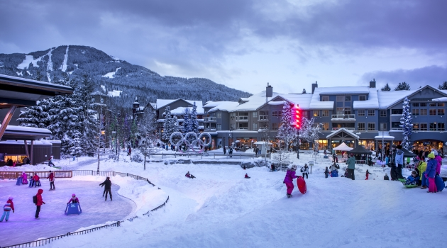 Whistler Olympic Plaza in the winter image by Justa Jeskova