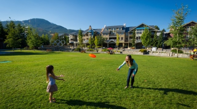Whistler Olympic Plaza in the summer image by Mike Crane