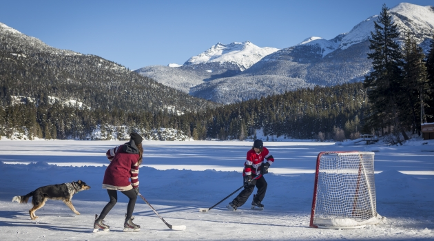 Pond hockey on Green Lake image by Justa Jeskova