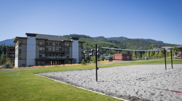 Bayly Park volleyball court in Cheakamus Crossing image by Justa Jeskova