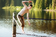 Dave Buzzard photo of slacklining at Lost Lake Park
