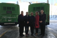 CNG bus announcement event image