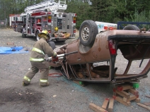Practice Extrication from vehicle